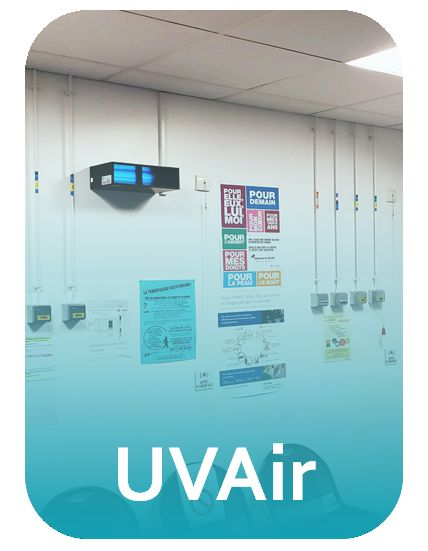 UVAir - décontamination de l'air pour pièces de hauteur standard